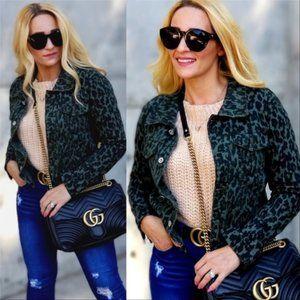 ZOEY Leopard Animal Print Jacket Womems Coat